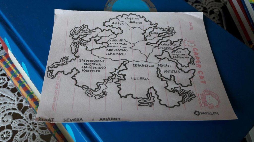 pierwotna mapa Kontynentu